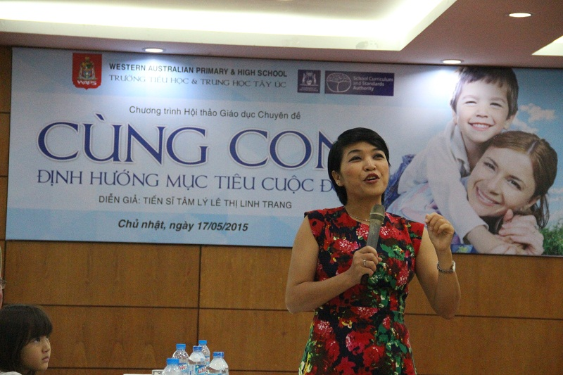 Le Thi Linh Trang shares her experience on educating children