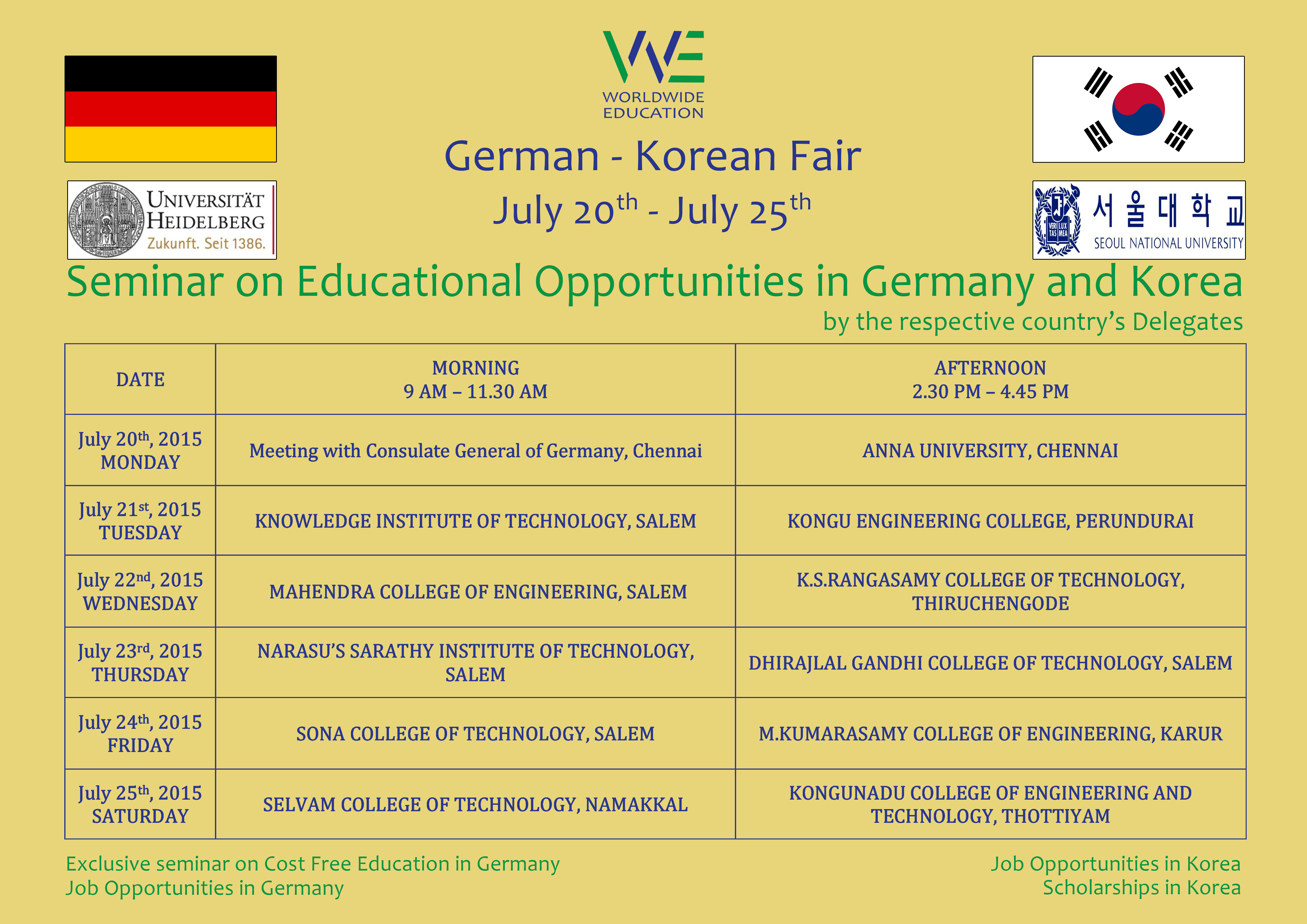 Seminar on Educational Opportunities in Germany and Korea