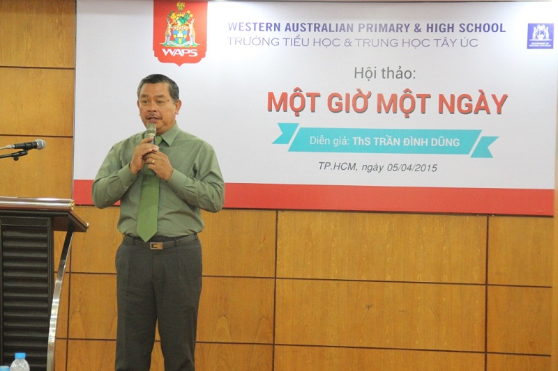 Mr. Tran Dinh Dung shares his experience with children